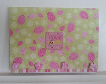 Sparkly Flower Note Card