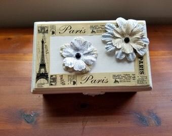 Wooden Vintaged Jewelry Box Keepsake Box Trinket Box