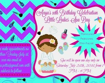 Spa Party Invitation/Digital/Printable