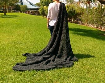 big blanket etsy. Black Bedroom Furniture Sets. Home Design Ideas