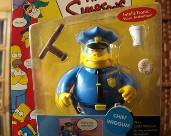 Playmates The Simpsons WOS Chief Clancy Wiggum Action Figure Series 2 NIB