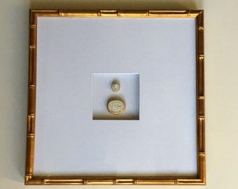 Intaglio Art with Bamboo Frame
