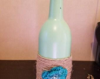 Sea Green Wine Bottle