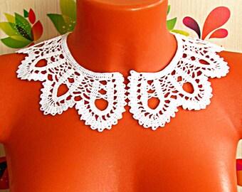 Воротничок крючком круглый Crochet collar