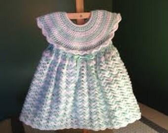Handmade Crochet Baby Dresses