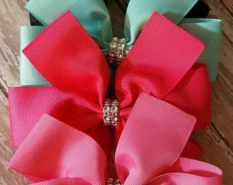 set of 4 pinwheel bows