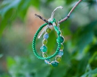 Eban Bracelet - Teal & Lime