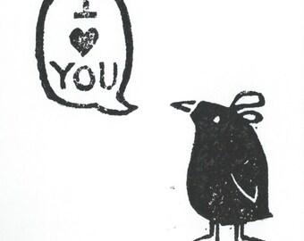 I heart you greeting card - LeLe Bird