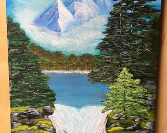 Mountain Air painted 16inx20in canvas by Diane