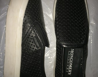 Black Slip-On Platform Sneakers
