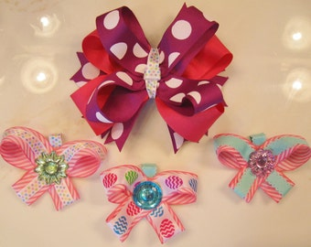 Boutique Interchangeable Hair Bow Gift Set