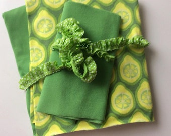 Fabric package lime green