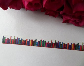 Library book washi tape