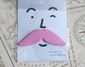 Vintage style pink Mustache sticknotes, novelty, steampunk theme