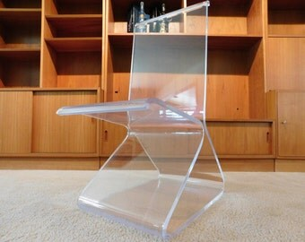 custom lucite z chair signed acrylic furniture art acrylic furniture lucite