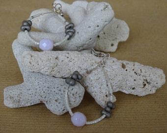 Glass beads and earrings Miyuki
