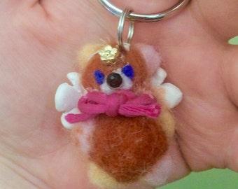 Angel Bear Keychain (brown)