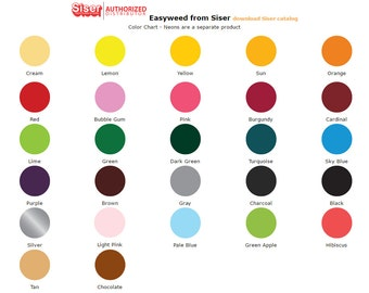 "Easyweed Heat Transfer Vinyl Sheets 12"" x 15"""