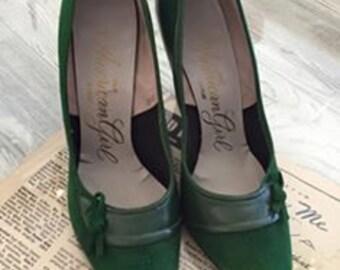 Vintage Emerald Green Heels