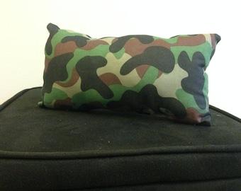 Firm Woodland Camo decorative pillow