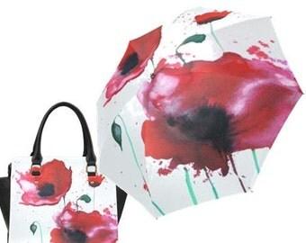 Poppies Handbag and Umbrella Combo Special