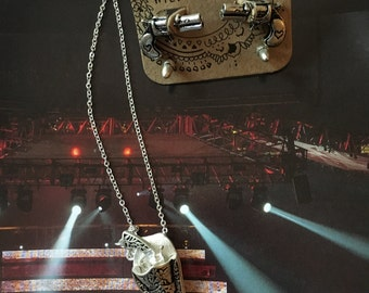 Gun in Holster Necklace with Earrings