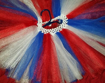 Red,white and blue Tutu