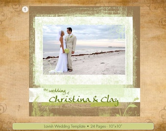 Lavish Wedding Album Design PSD Template for Coffee Table Book - 24 pages