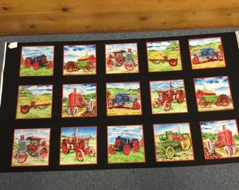 Vintage Tractors by Exclusively Quilters
