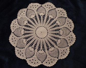 Crocheted Pineapple Doily- 16 inches
