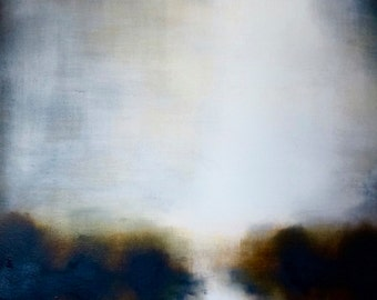 Reflected Light River. Landscape Painting by Michelle Tholen