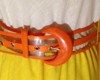 60s orange and clear belt