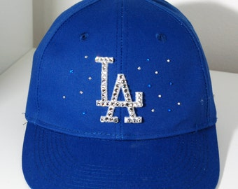 LA Dodgers hat with Swarovski crystals
