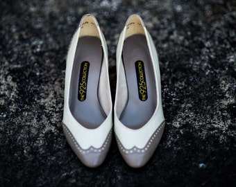 Vintage Shoe Size 7 1940s Inspired 40s Heels 1940s Heels 1940s Shoes 40s Pumps Leather Heels High Heels Leather Pumps 40s Oxfords