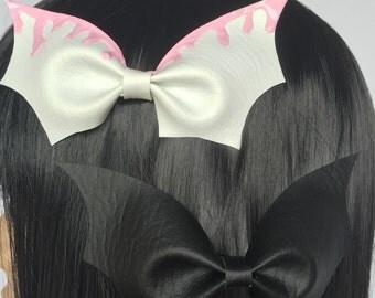 Pastel Goth Bat Hair Bows