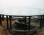 Tractor Wheel Coffee Table With Glass Top unique table round table glass top table steel and glass table round coffee table table