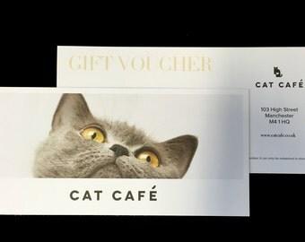 Cat Cafe Manchester Gift Voucher