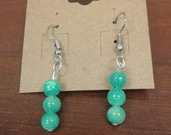 Dangle Earrings with Sky Blue Stone