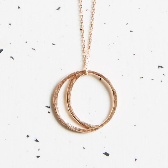 9ct Rose Gold Crescent Moon Necklace
