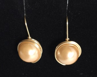 Swarovski Beige Pearl Earrings