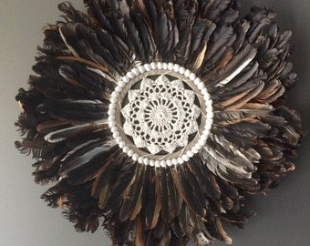Crochet Feather Wall Hanging