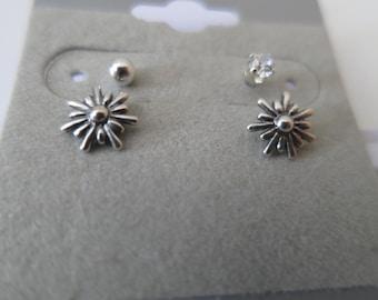 Flower Stud Earring Set Sterling Silver 925