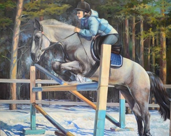 "The painting ""the Horsewoman"" oil on canvas 200 * 200 cm"