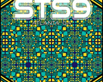 "STS9 2016 Atlanta 2-Night Run 11x17"" Print August 26 & 27"