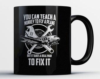 Aircraft Mechanic Gift - Airplane Mechanic Mug - Aircraft Maintenance Coffee Cup - Air Plane Repair Gifts - Aircraft Repair