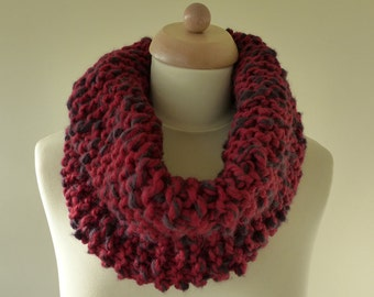 Large Cosy Hand Knitted Chunky Cowl / Scarf