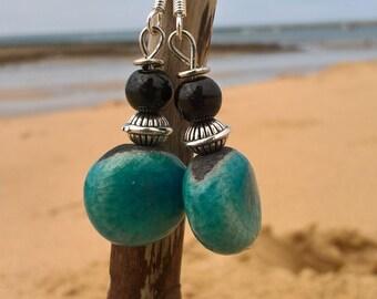 Ocean color earrings