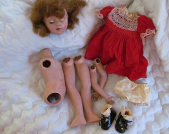 vintage doll for repair or parts