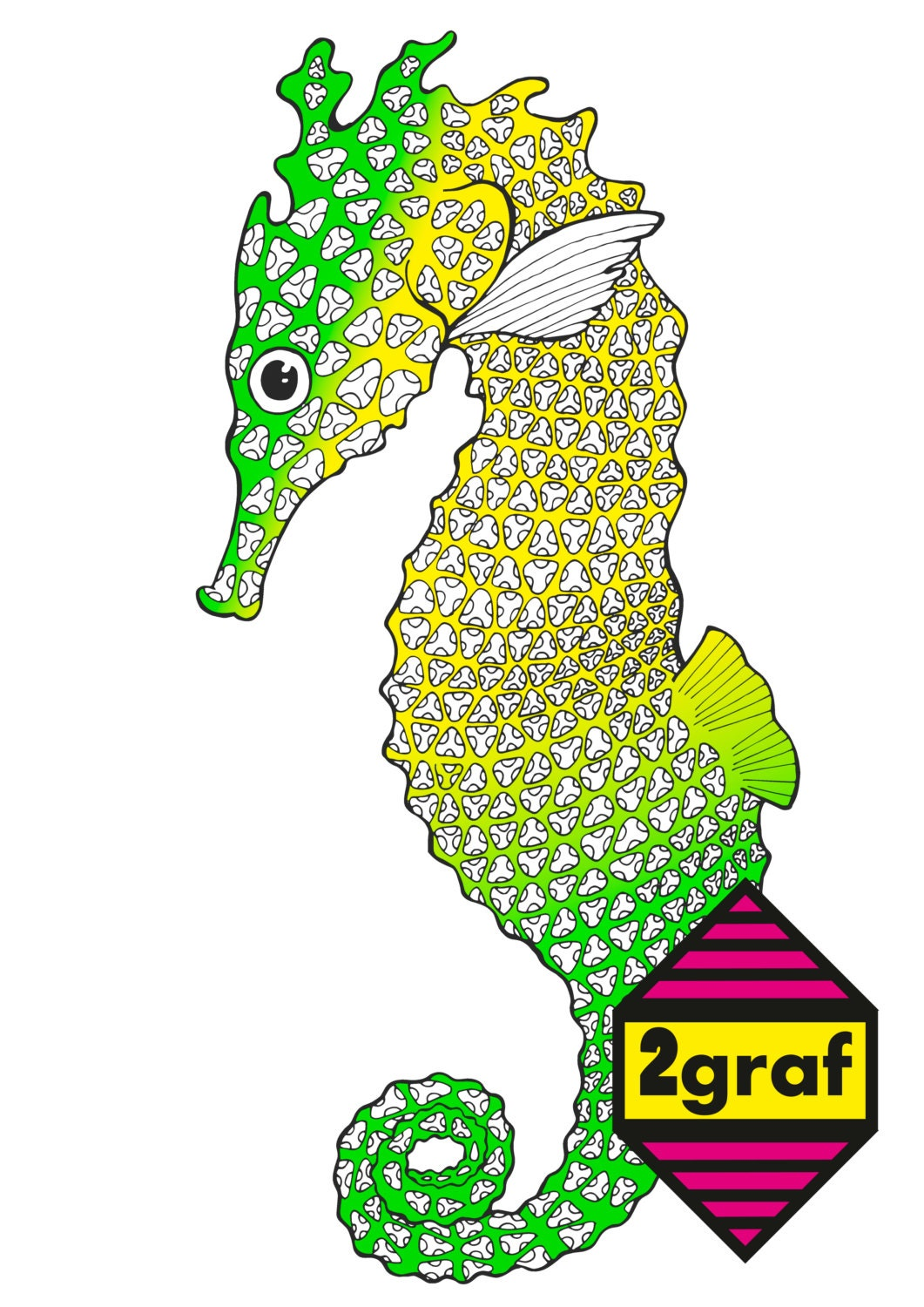 coloring page seahorse color therapyart therapyanimal