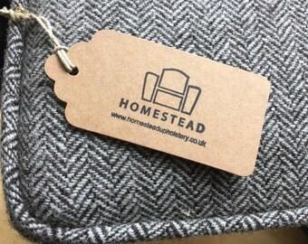 Orkney Tweed Herringbone Footstool